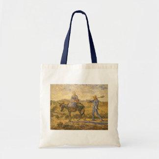 Ländliche Paare, die gehen, durch Vincent van Gogh Tragetasche