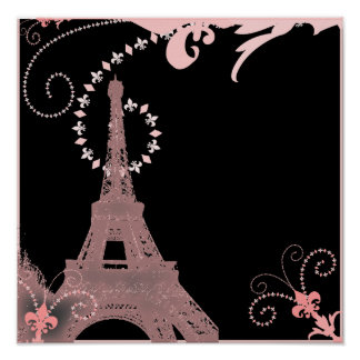 Landrosaparis Eiffel des Shabby Chic französischer Poster