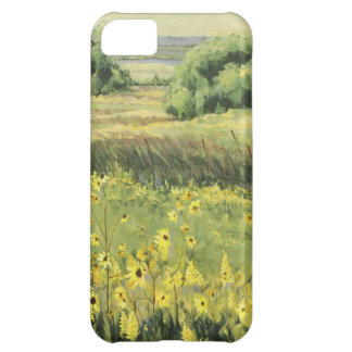 Landschaft 0545 mit Sonnenblumen iPhone 5C Hülle