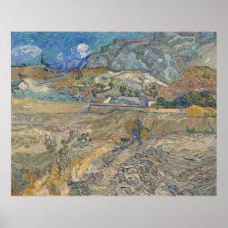 Landschaft am Heiligen-Rémy; Vincent van Gogh Poster