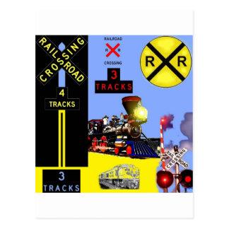 Landschaft der Eisenbahn Postkarte