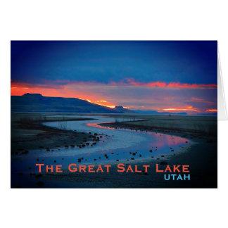 Landschaft Great Salt Lake, Utah Karte