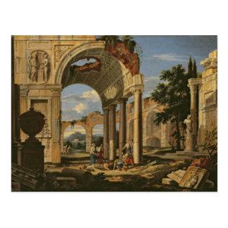 Landschaft mit Ruinen, 1673 Postkarte