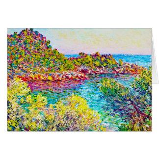 Landschaft nahe Monte Carlo, Claude Monet 1883 Mitteilungskarte