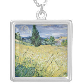 Landschaft Vincent van Goghs | mit grünem Mais, Versilberte Kette