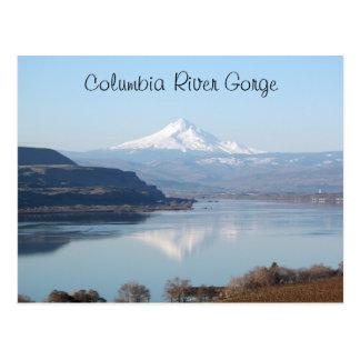 Landschaftliche Columbia River Schlucht-Reise Postkarte