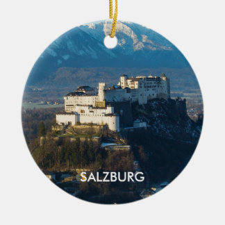 Landschaftliche Kreis-Verzierung Salzburgs Rundes Keramik Ornament