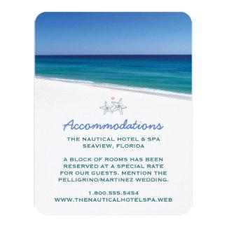Landschaftliche Strand-Hochzeits-Einsatz-Karte 10,8 X 14 Cm Einladungskarte