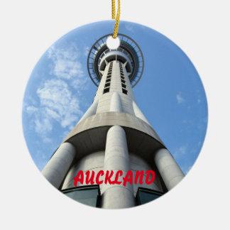 Landschaftliche Verzierung Aucklands Neuseeland Rundes Keramik Ornament