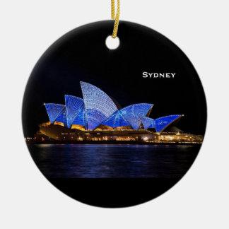 Landschaftliche Weihnachtsverzierung Sydneys Keramik Ornament