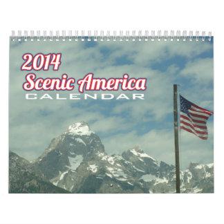 Landschaftlicher Amerika-Kalender Abreißkalender