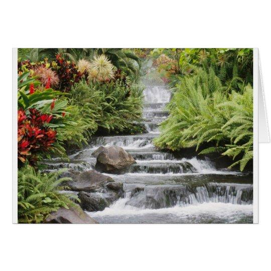 Landschaftlicher Wasserfall Mitteilungskarte