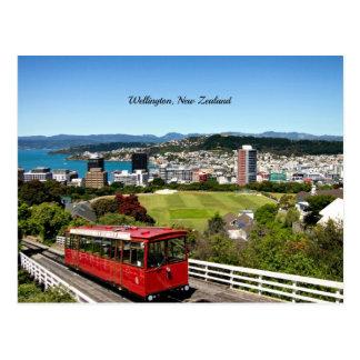 Landschaftliches Foto Wellingtons, Neuseeland Postkarte