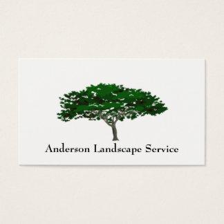 Landschaftsbaum-Abbau-Karte Visitenkarten