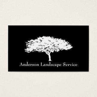 Landschaftsbaum-Abbau-Schwarz-Karte Visitenkarten