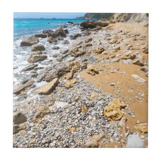 Landschaftsfelsige Küste Kefalonia Griechenland Fliese