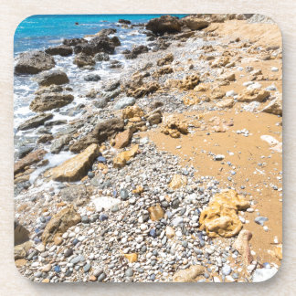 Landschaftsfelsige Küste Kefalonia Griechenland Getränkeuntersetzer
