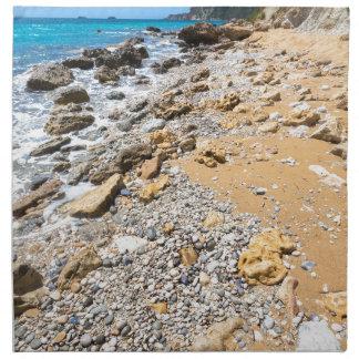 Landschaftsfelsige Küste Kefalonia Griechenland Serviette