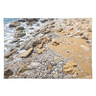 Landschaftsfelsige Küste Kefalonia Griechenland Tischset