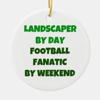 Landschaftsgestalter durch Tagesfußball-Fanatiker Keramik Ornament