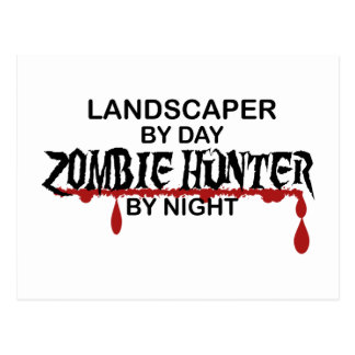 Landschaftsgestalter-Zombie-Jäger Postkarte