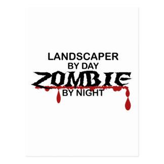 Landschaftsgestalter-Zombie Postkarte