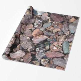 Landschaftsgestaltung des Lava-Felsen-Schutts und Geschenkpapier