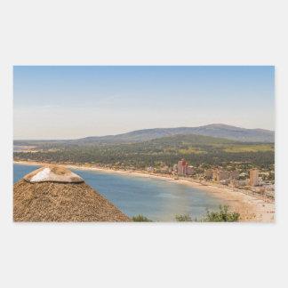 Landschaftsluftaufnahme Piriapolis Uruguay Rechteckiger Aufkleber