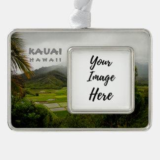 Landschaftsphotographie Kauais Hawaii Rahmen-Ornament Silber