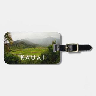 Landschaftsszene Kauais, Hawaii Kofferanhänger