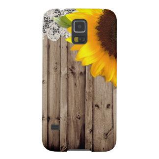 Landsonnenblume der hölzernen Spitzes der Scheune Samsung S5 Hüllen
