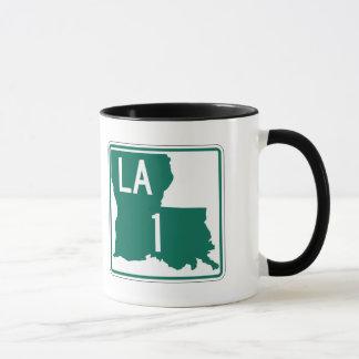 Landstraße 1, Louisiana, USA Tasse