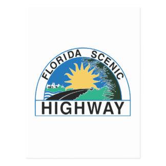 Landstraßen-Verkehrsschild-Reise Floridas Postkarte