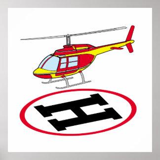 Landungshubschrauber Poster