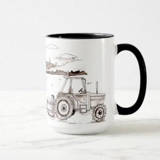 Landwirtschaft des Abendessens in der Feld-Tasse Tasse