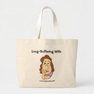 Lang-Leidende Ehefrau-Tasche Jumbo Stoffbeutel