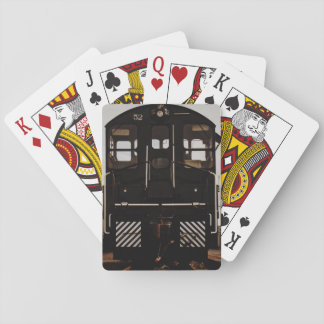 Lange schwarze Zug-Karten Spielkarten