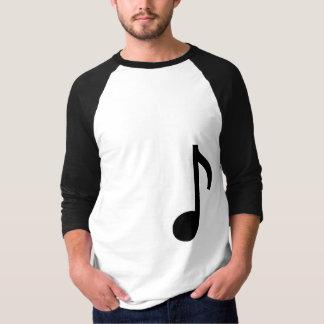 Längen-Shirt der Musik-Anmerkung 3/4 T-Shirt