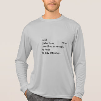 "Langer Hülse Sport-Tek Konkurrent ""das Deafinition T-Shirt"