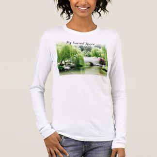 Langer Hülsen-Yoga-T - Shirt, mein heiliger Raum-T Langarm T-Shirt