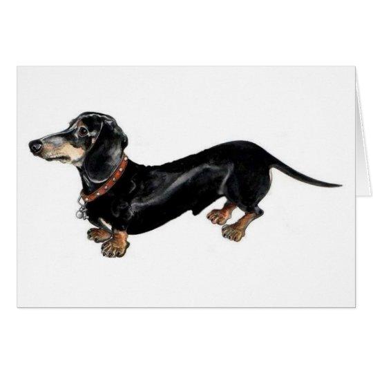 """langer Hunde"" Dackel-Grußkarte Karte"