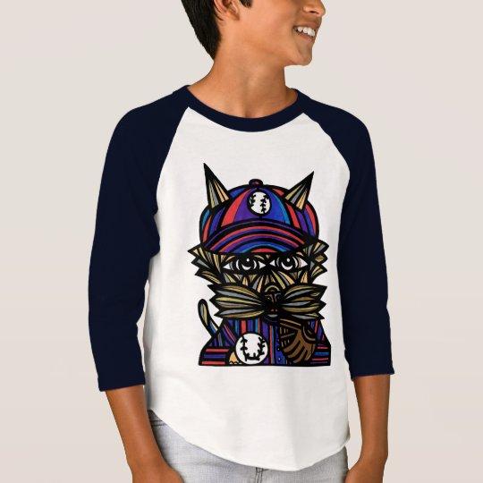 "Langer Raglan ""Baseballkat-"" Jungen die Hülse T-Shirt"