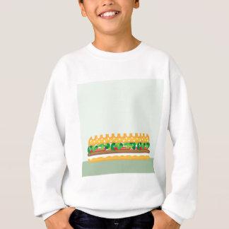 Langer Sandwichvektor Sweatshirt