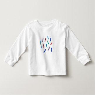 Langer T - Shirt Hülse des Kleinkindes mit Federn