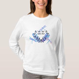 Langes die Hülsen-Shirt der Libellen-inspirierten T-Shirt