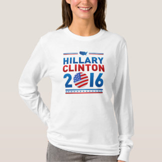 Langes Hülsen-Nano-T-Shirt 2016 Hillary Clintons T-Shirt