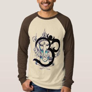 Langes Hülsen-Shirt OM Ganesha T-shirts