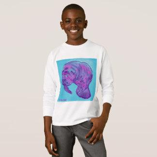 Langes Hülsent-shirt des Manatiskindes T-Shirt