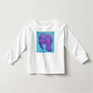 Langes Hülsent-shirt des Manatiskleinkindes Kleinkind T-shirt