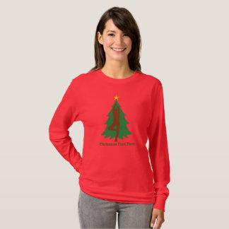 """Langes T-Shirt Hülse """"der Weihnachtsbaum-Pose"""""""